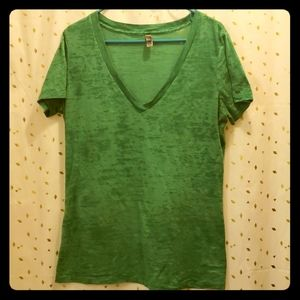 Next Level Apparel XXL Burnout Tshirt Green